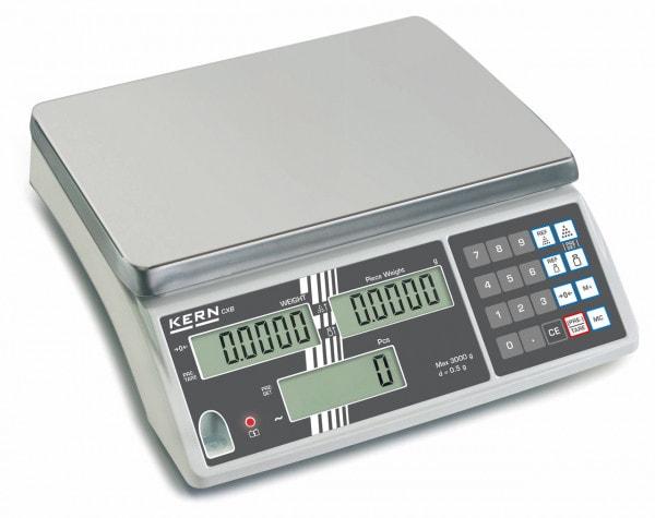 KERN Kappalelaskuvaaka CXB - 3000 g / 1 g - myös varmennettuna