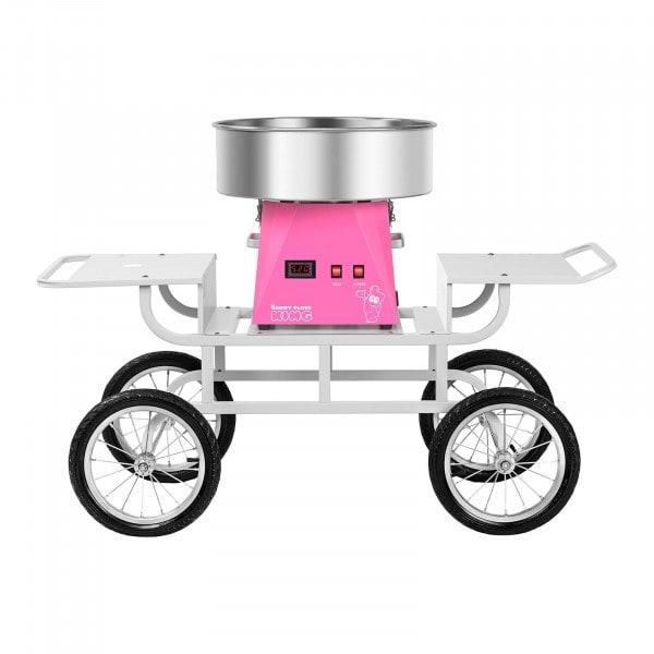 Hattarakonesetti vaunulla - 52 cm - vaaleanpunainen/valkoinen