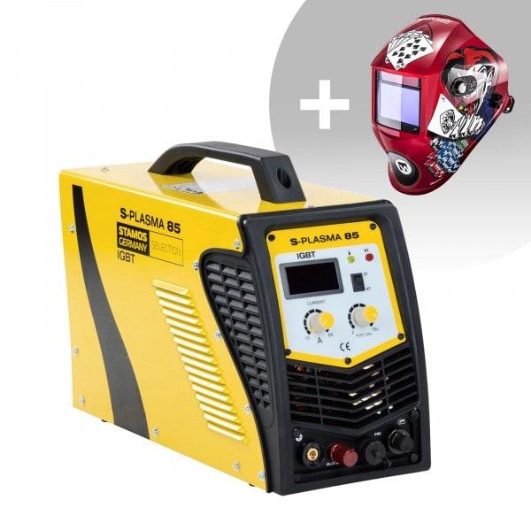 Hitsaussetti CNC-plasmaleikkuri - 85 A - 400 V - pilot arc + Hitsausmaski – Pokerface – PROFESSIONAL SERIES