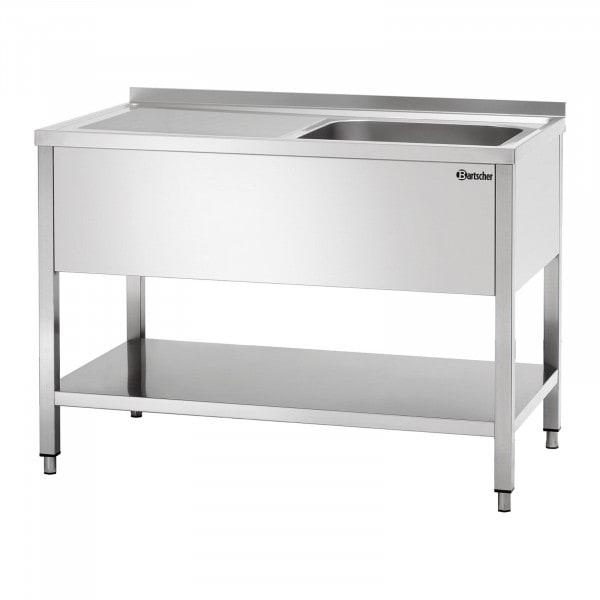 Bartscher Tiskipöytä 700 - B 1200mm - allas oikealla