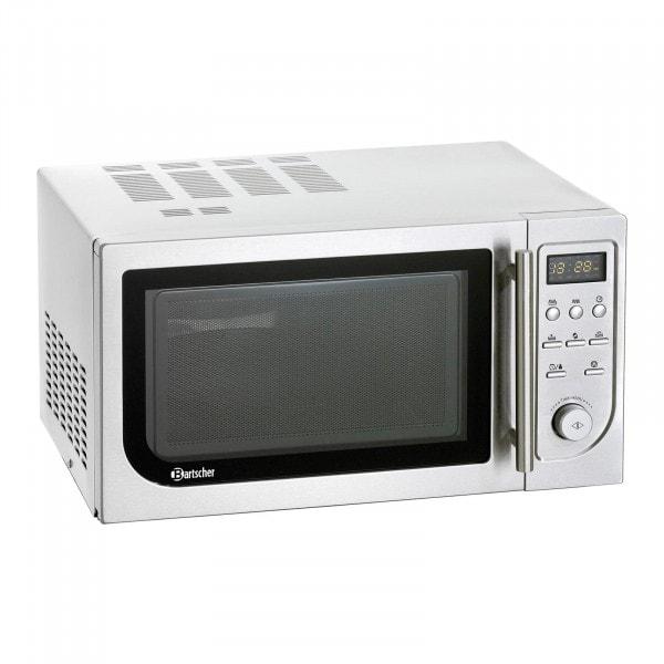 Bartscher Mikroaaltouuni - digitaalinen - 25 litraa - 900W - grilli- ja kiertoilmatoiminnolla