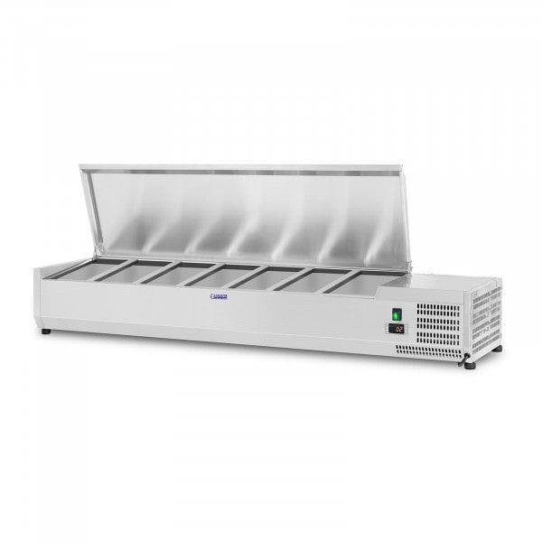 Kylmävitriini - 150 x 33 cm - 7 GN 1/4-astiaa