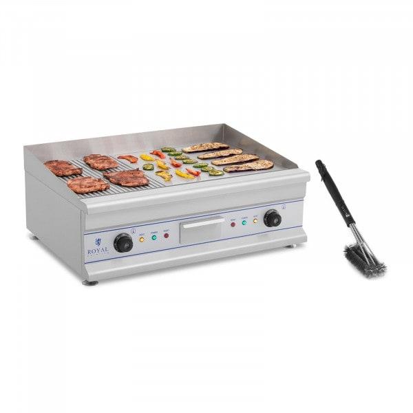 Paistotaso grilliharjalla - 75 cm - uritettu/sileä - 2 × 3 200 W