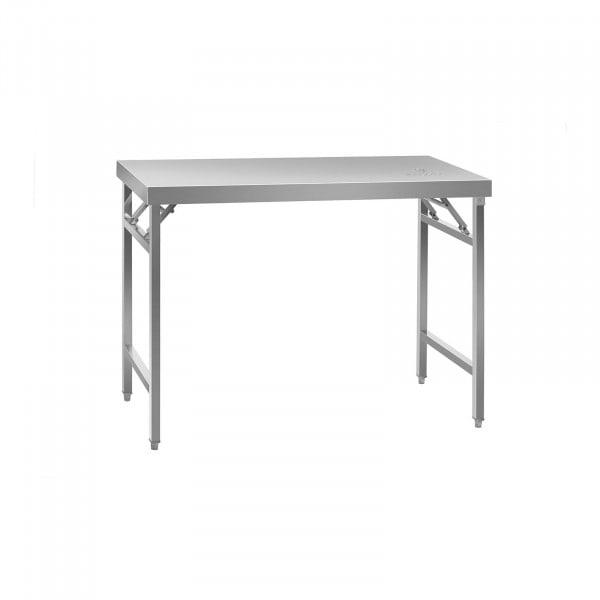 Teräspöytä - ruostumatonta terästä - 120 x 60 cm