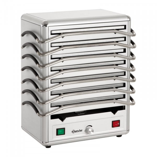 Bartscher Lämpölevylämmitin - 8 levyä - alumiiini - hopeinen