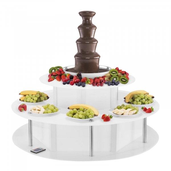 Suklaalähde ja LED-pöytä - setti - 4 kerrosta - 6 kg
