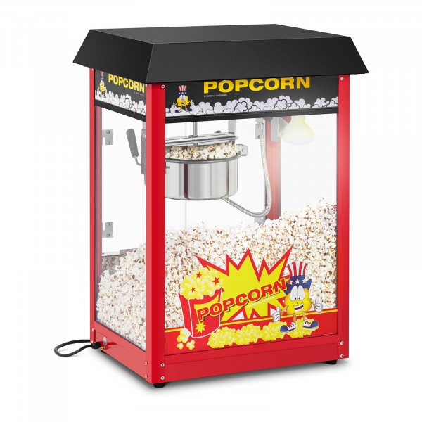 Popcorn-kone - 120 s työjakso - musta katto