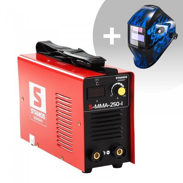 Hitsaussetti Puikkohitsauskone - 250 A - 230 V - IGBT + Hitsausmaski – Sub Zero – EASY SERIES