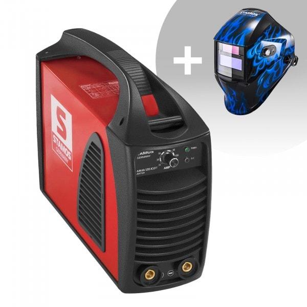 Hitsaussetti Puikkohitsauskone - 120 A - Hot Start - IGBT + Hitsausmaski – Sub Zero – EASY SERIES