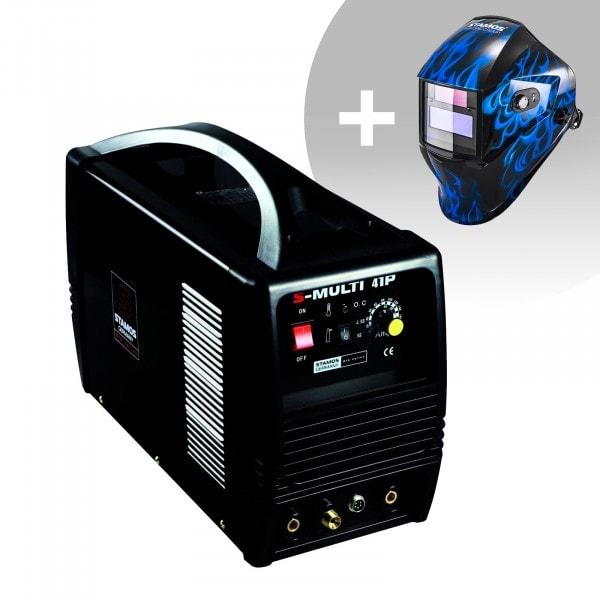 Hitsaussetti Yhdistelmähitsauskone - TIG 160 A - Cut 40 A - MMA - PRO + Hitsausmaski – Sub Zero – EASY SERIES