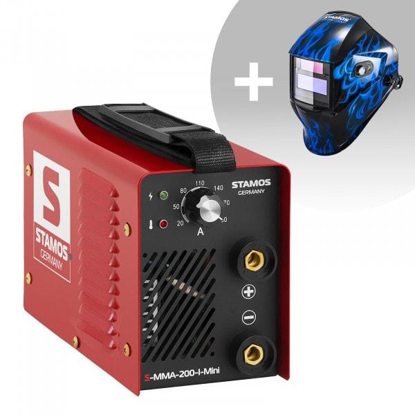 Hitsaussetti Puikkohitsauskone - 200 A - 230 V - IGBT + Hitsausmaski - Sub Zero - EASY SERIES