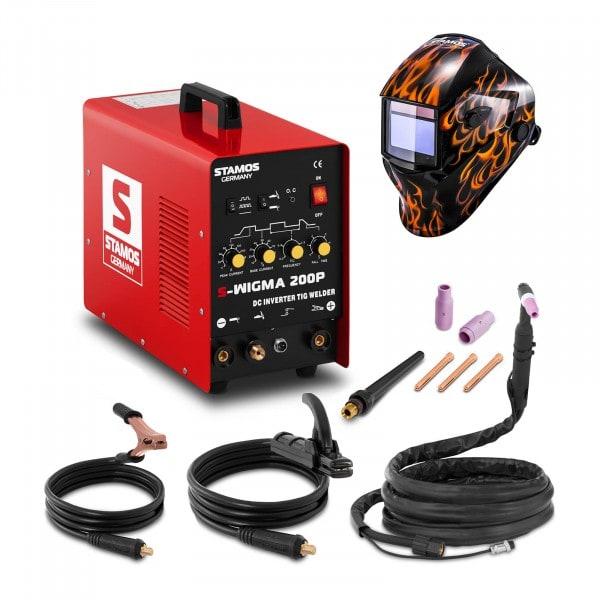 Hitsaussetti TIG-hitsauskone - 200 A - 230 V - pulssi + Hitsausmaski – Firestarter 500 – ADVANCED SERIES