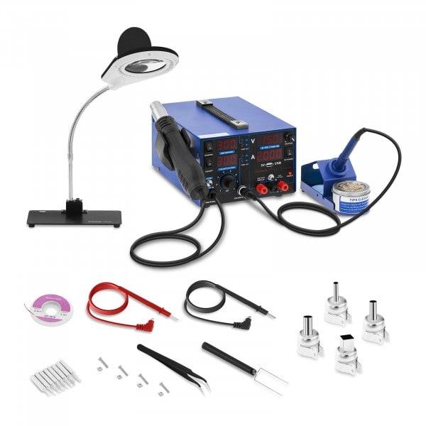 Juotosasema - 800 W - 4 LED-näyttöä - Valaisin
