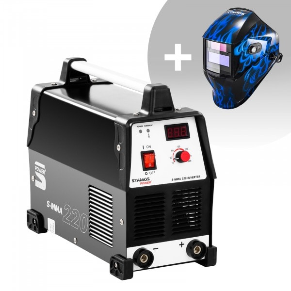 Hitsaussetti Puikkohitsauskone - 220 A - 230 V + Hitsausmaski – Sub Zero – EASY SERIES