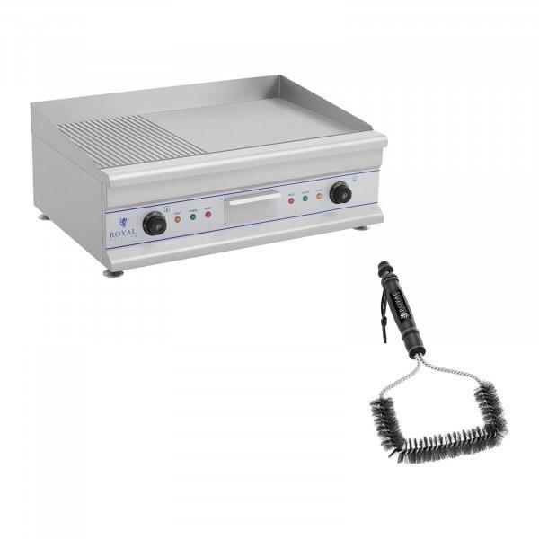 Paistotaso grilliharjalla - 75 cm - uritettu/tasapintainen - 2 x 3200 W