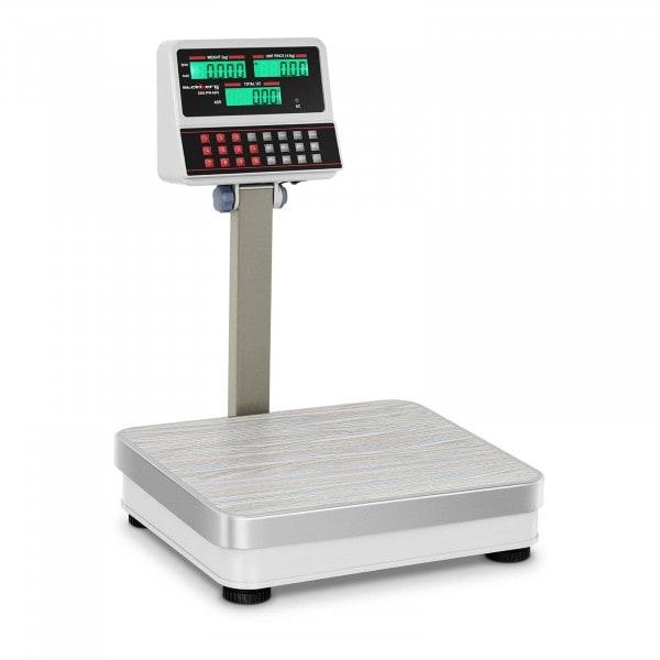 Kakkoslaatu Hinnoitteluvaaka - 100 kg / 10 g - valkoinen - LCD