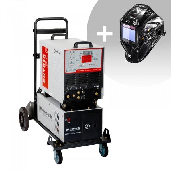 Hitsaussetti Alumiinihitsauskone - 315 A - 400 V - pulssi - vesijäähdytin + Hitsausmaski – Metalator– EXPERT SERIES