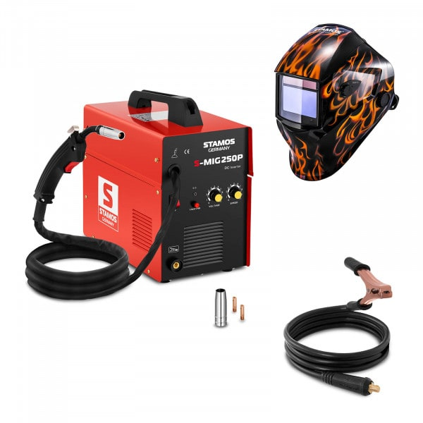 Hitsaussetti MIG/MAG-hitsauskone - 250 A - 230 V - kannettava + Hitsausmaski – Firestarter 500 – ADVANCED SERIES