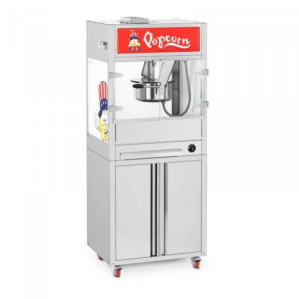 Popcorn-kone - alakaappi pyörillä - Royal Catering - keskikokoinen