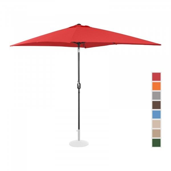 Kakkoslaatu Aurinkovarjo suuri - punainen - suorakulmainen - 200 x 300 cm - kallistettava