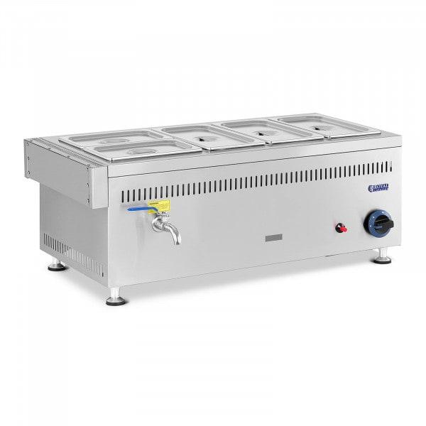 Lämpöhaude kaasu - 3300 W - GN 3x1 / 3 + 2x1 / 4 - 0,03 bar - G30