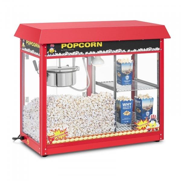 Popcorn-kone - lämmitetty vitriini - punainen