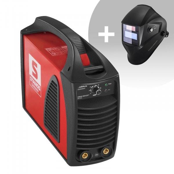 Hitsaussetti Puikkohitsauskone - 120 A - Hot Start - IGBT + Hitsausmaski – Operator – EASY SERIES