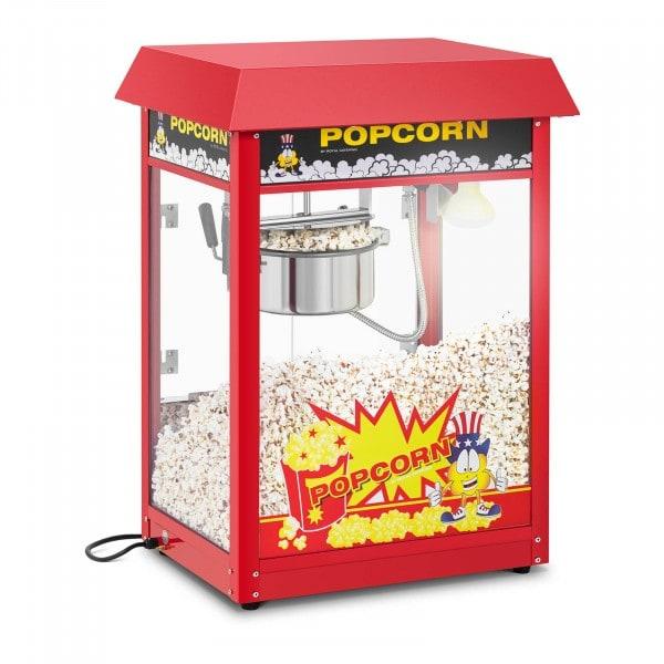Popcorn-kone - 120 s työjakso - punainen katto
