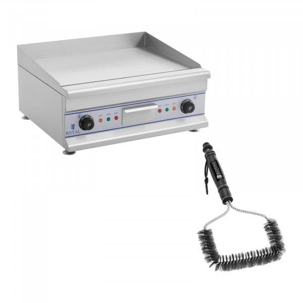 Paistotaso grilliharjalla - 60 cm - sileä - 2 x 3 200 W