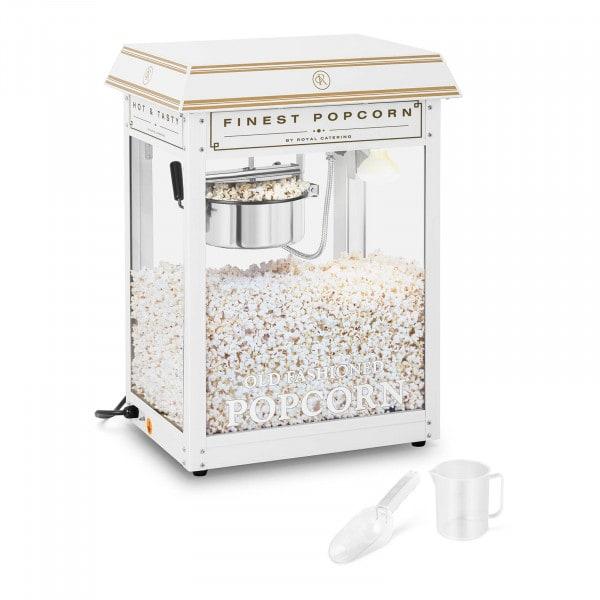 Popcorn-kone - valko-kultainen