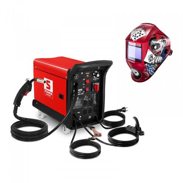Hitsaussetti Yhdistelmähitsauskone - 195 A - 230 V - kannettava + Hitsausmaski – Pokerface – PROFESSIONAL SERIES