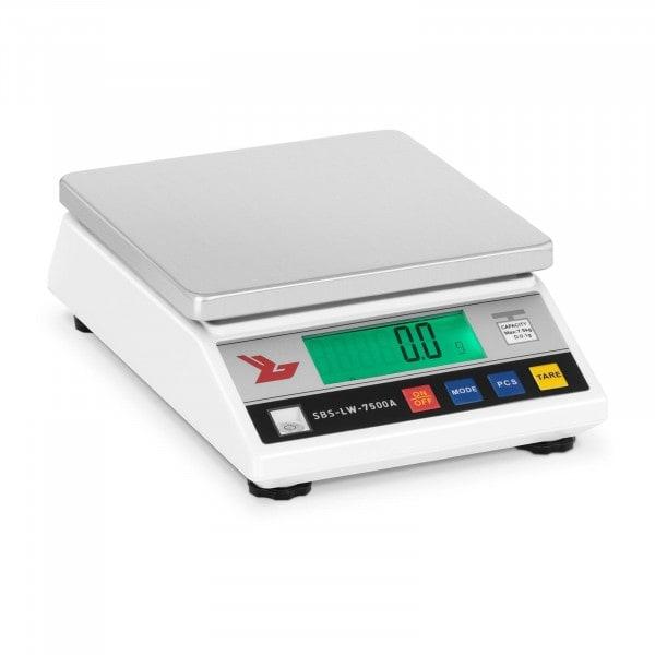Tarkkuusvaaka - 7 500 g / 0,1 g - LCD