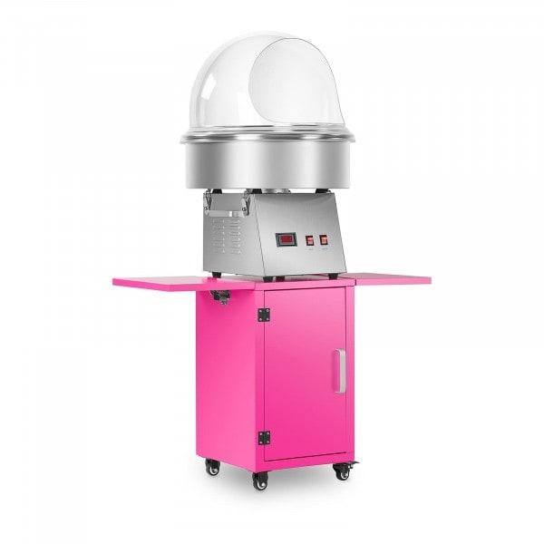Hattarakonesetti vaunulla ja suojakuvulla - 52 cm - ruostumaton teräs/vaaleanpunainen