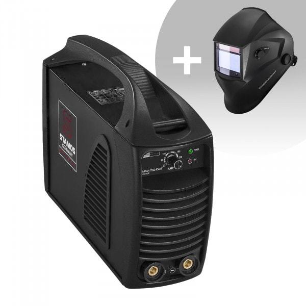 Hitsaussetti Puikkohitsauskone - 250 A - Hot Start - IGBT + Hitsausmaski – Blaster – ADVANCED SERIES