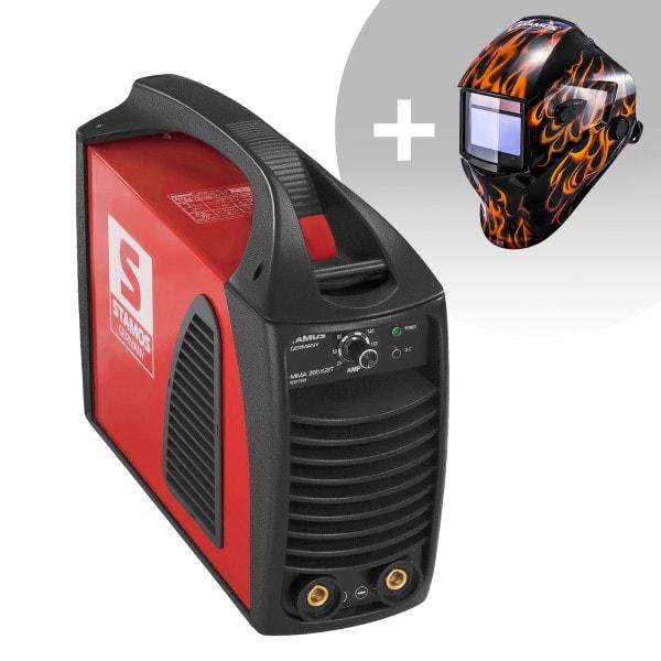 Hitsaussetti Puikkohitsauskone - 200 A - Hot Start - IGBT + Hitsausmaski – Firestarter 500 – ADVANCED SERIES
