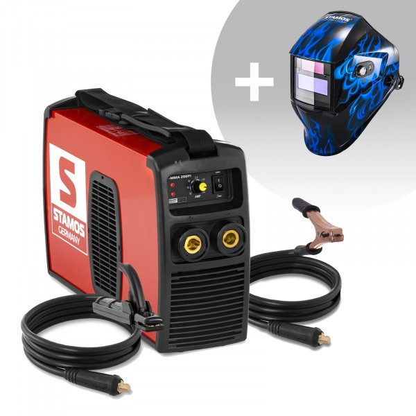 Hitsaussetti Puikkohitsauskone - 200 A - 230 V + Hitsausmaski – Sub Zero – EASY SERIES