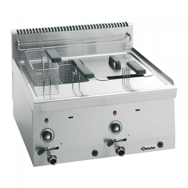 Bartscher Rasvakeitin kaasu 600 - B 600mm - 2x8 litraa