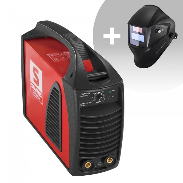 Hitsaussetti Puikkohitsauskone - 200 A - Hot Start - IGBT + Hitsausmaski – Operator – EASY SERIES