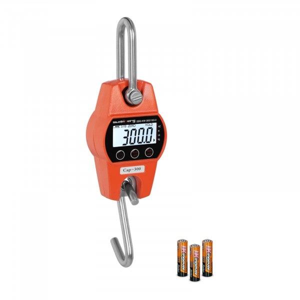 Koukkuvaaka - 300 kg / 100 g - oranssi - riistavaaka