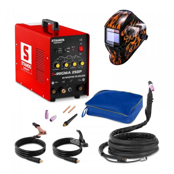 Hitsaussetti TIG-hitsauskone - 250 A - 230 V - pulssi + Hitsausmaski – Firestarter 500 – ADVANCED SERIES