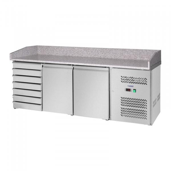 Kylmävetolaatikosto - 580 l - Graniittityötaso - 2 ovea