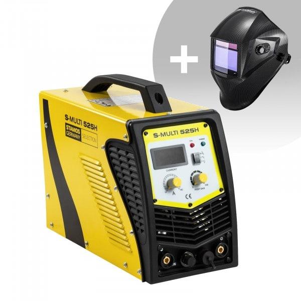 Hitsaussetti Yhdistelmähitsauskone - TIG 180 A - Cut 40 A - MMA + Hitsausmaski – Carbonic – PROFESSIONAL SERIES