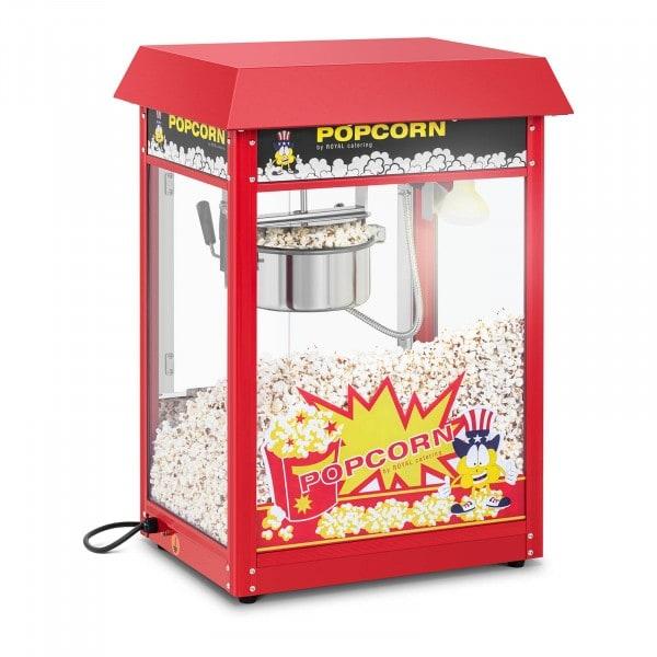 Popcorn-kone - punainen katto