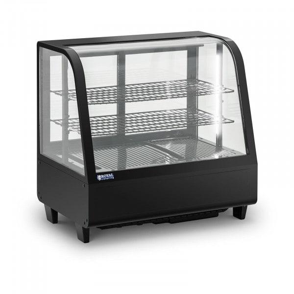 Kylmävitriini - 100 L - 3 tasoa - liukuovet - musta