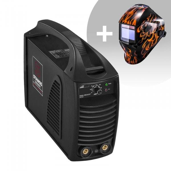 Hitsaussetti Puikkohitsauskone - 250 A - Hot Start - IGBT + Hitsausmaski – Firestarter 500 – ADVANCED SERIES