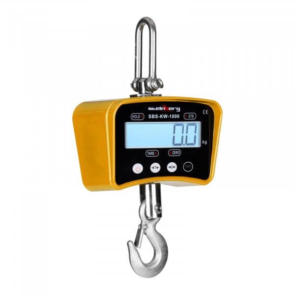Koukkuvaaka - 1000 kg / 0,5 kg - keltainen
