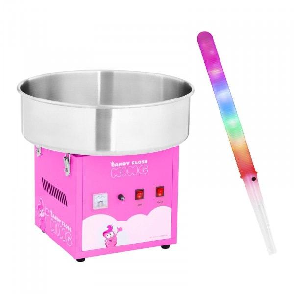 Hattarakonesetti LED-hattaratikuilla - 52 cm - 1 200 W - 50 kpl - vaaleanpunainen