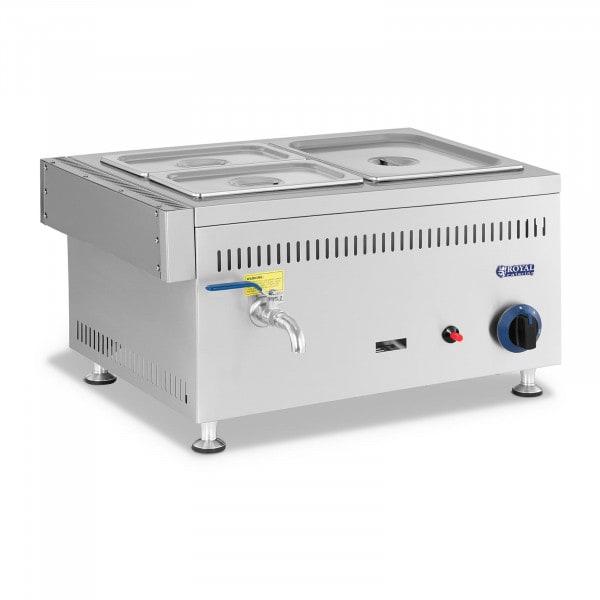 Lämpöhaude kaasu - 3300 W - GN 1 x 1/2 + 2 x 1/4 - 0,03 bar - G30