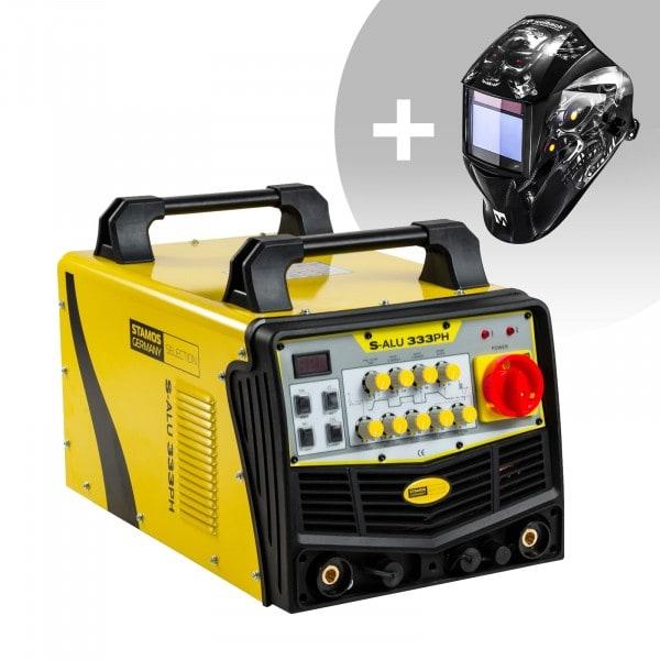 Hitsaussetti Alumiinihitsauskone - 333 A - 400 V - pulssi + Hitsausmaski – Metalator– EXPERT SERIES