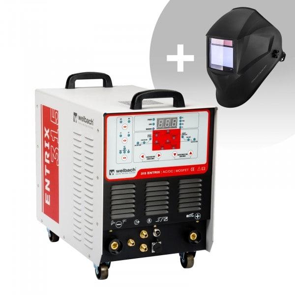 Hitsaussetti Alumiinihitsauskone - 315 A - 400 V - pulssi - digitaalinen - 2/4-tahti + Hitsausmaski – BlackONE – EXPERT SERIES